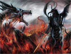 Сражение дракона...
