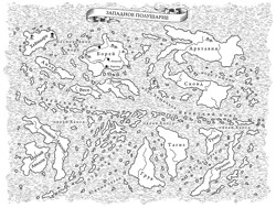 Карта мира Мритлок....