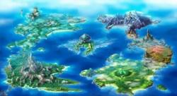 Примерная карта мира,...